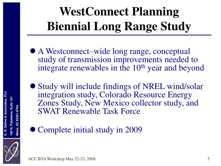 WestConnect Planning
