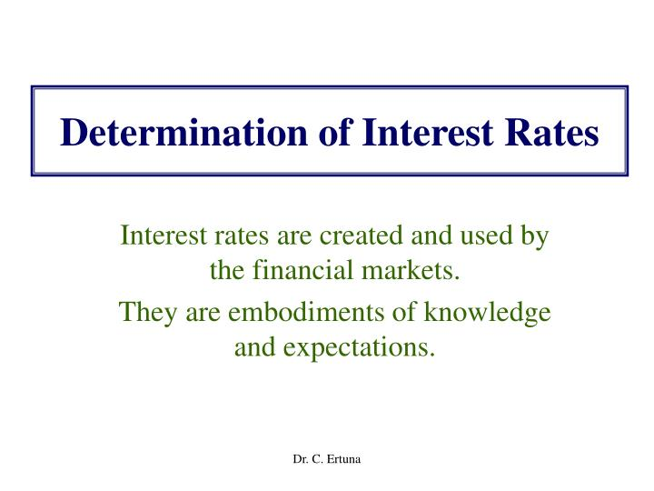 determination of interest rates n.