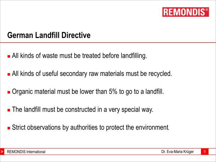 German Landfill Directive