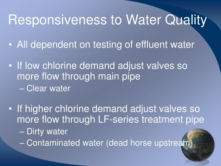 Responsiveness to Water Quality