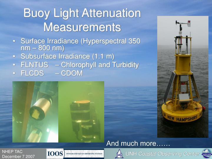 Buoy Light Attenuation Measurements