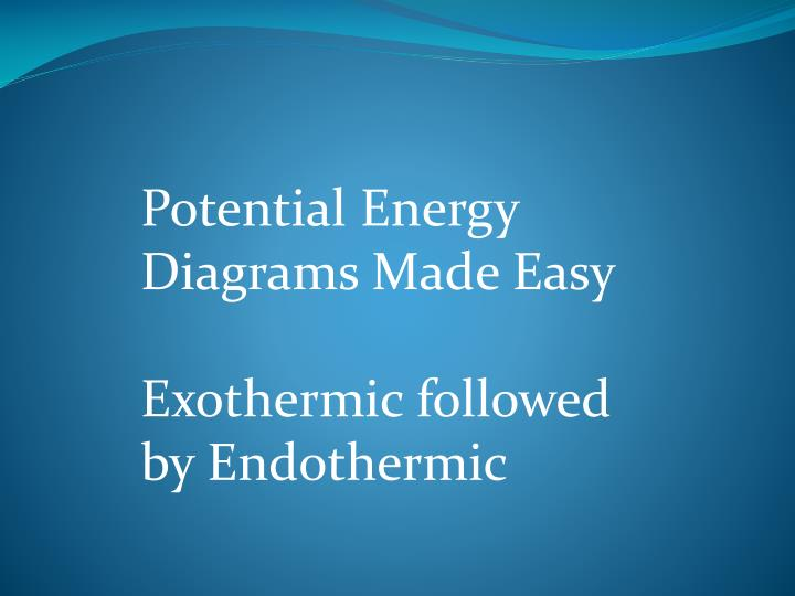 Ppt Potential Energy Diagrams Made Easy Exothermic Followed By
