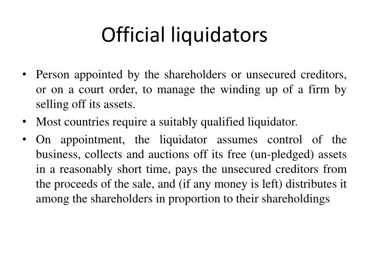 what is official liquidator