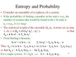 entropy and probability