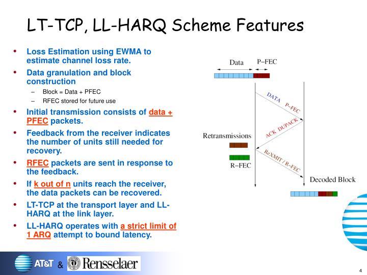 LT-TCP, LL-HARQ Scheme Features