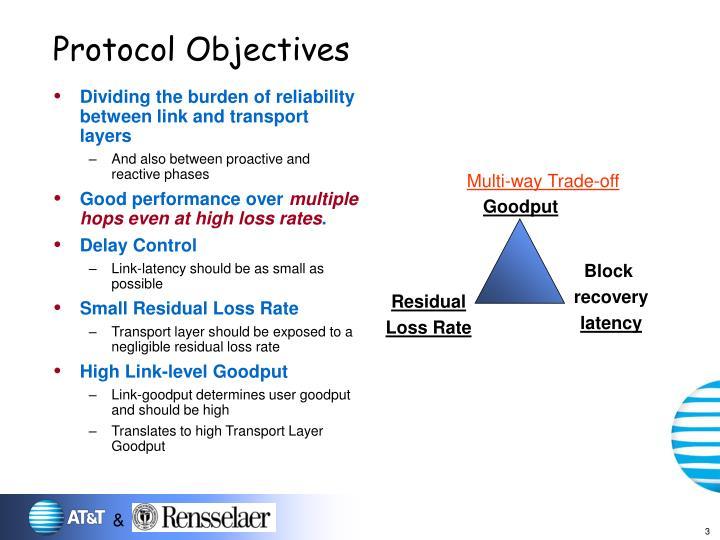 Protocol objectives
