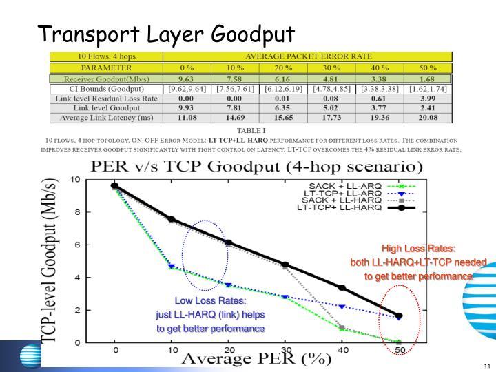 Transport Layer Goodput
