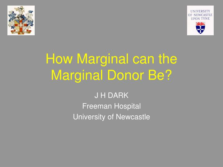 how marginal can the marginal donor be n.
