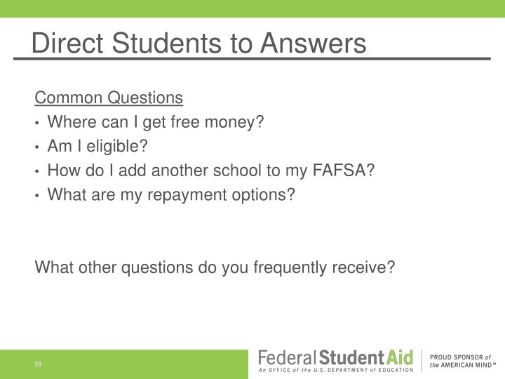 Direct Students to Answers