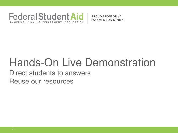 Hands-On Live Demonstration