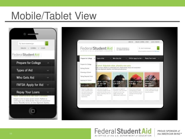 Mobile/Tablet View