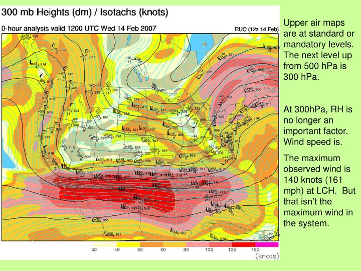 Upper air maps are at standard or mandatory levels.  The next level up from 500 hPa is 300 hPa.