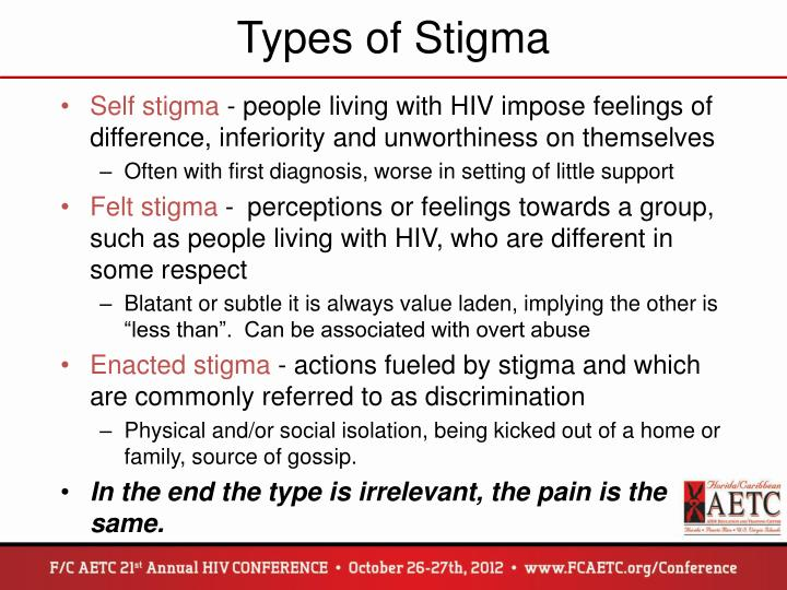 Types of Stigma