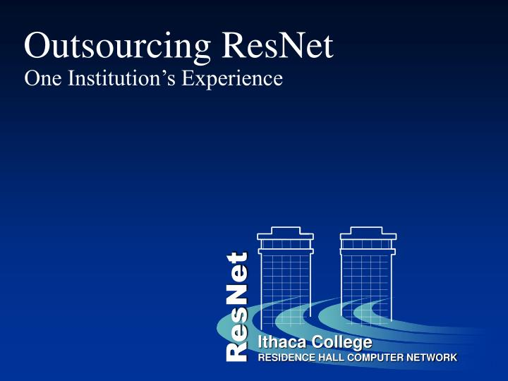 outsourcing resnet n.