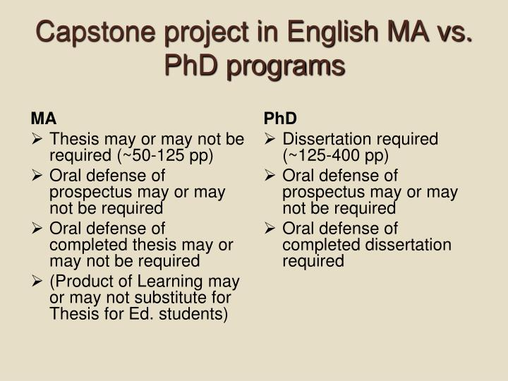 Combined ma phd english less coursework