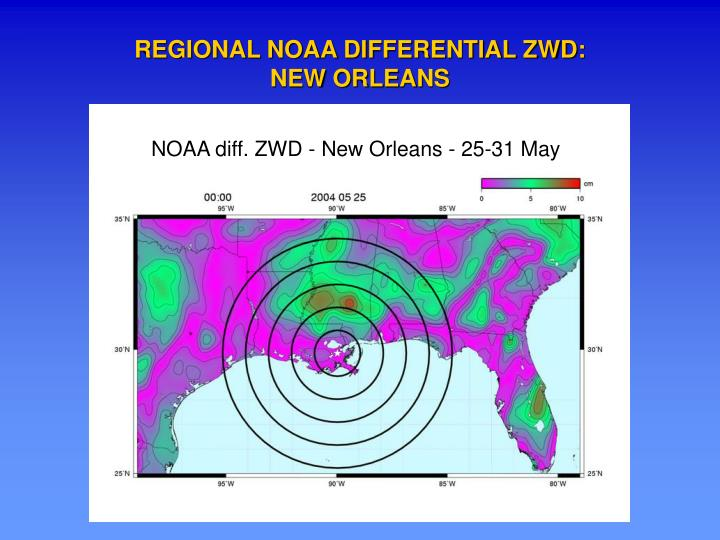 REGIONAL NOAA DIFFERENTIAL ZWD: