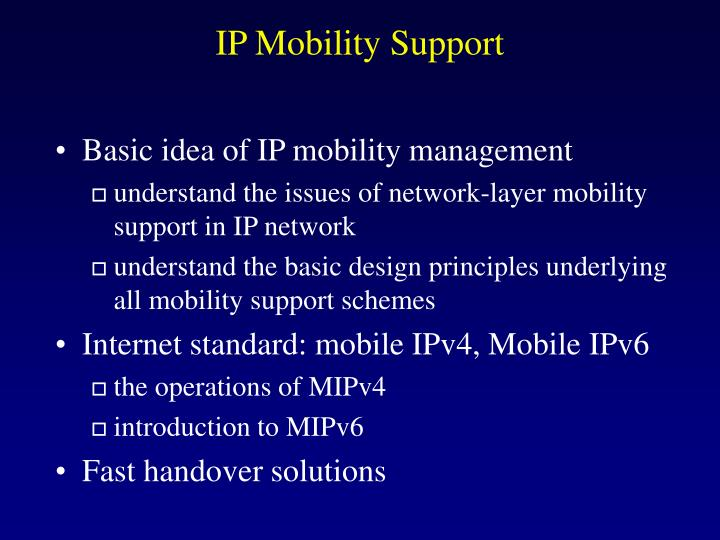 ip mobility support n.