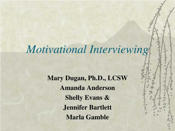 motivational interviewing n.