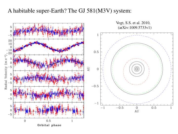 A habitable super-Earth? The GJ 581(M3V) system: