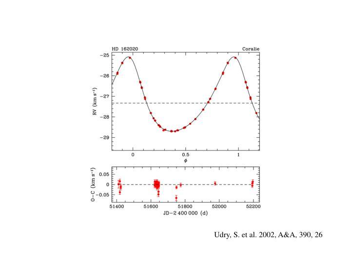 Udry, S. et al. 2002, A&A, 390, 26
