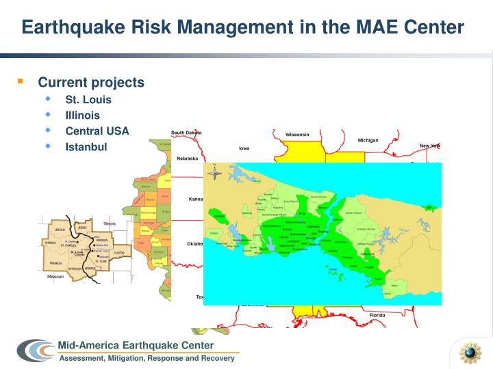 Earthquake risk management in the mae center