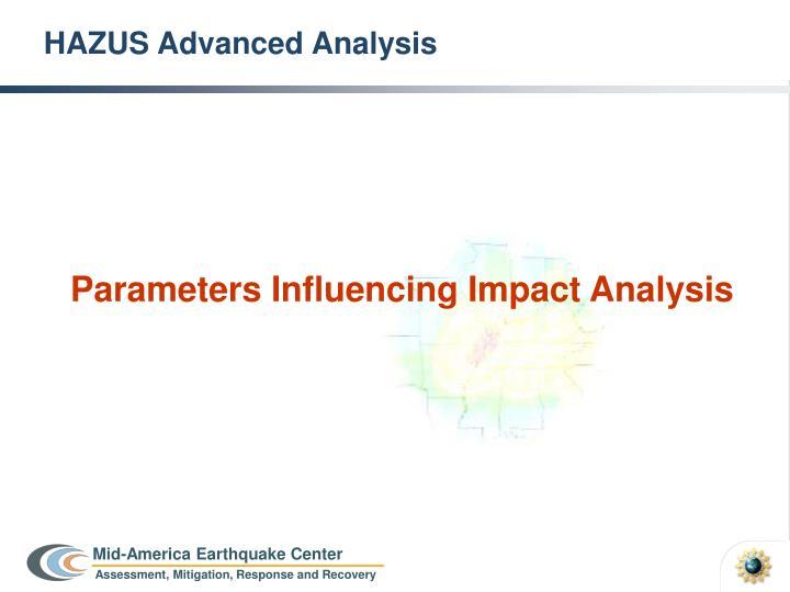 HAZUS Advanced Analysis