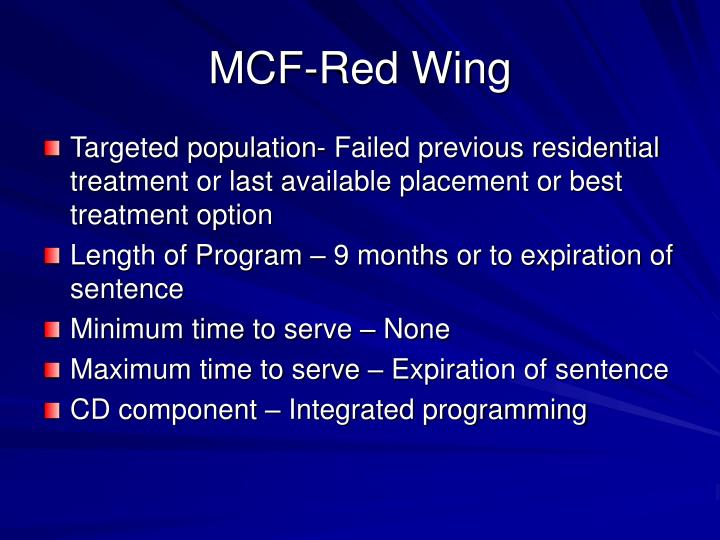 MCF-Red Wing