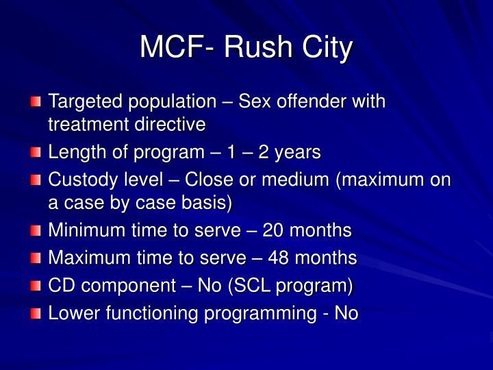 MCF- Rush City