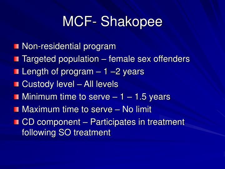 MCF- Shakopee