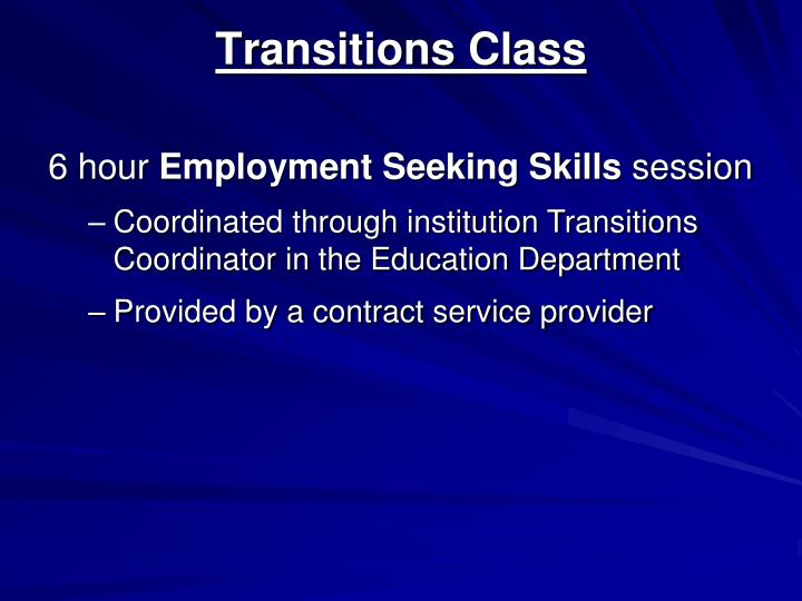 Transitions Class