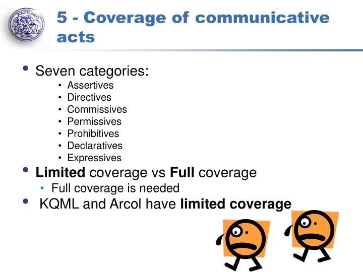 5 - Coverage of communicative acts