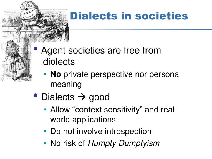 Dialects in societies