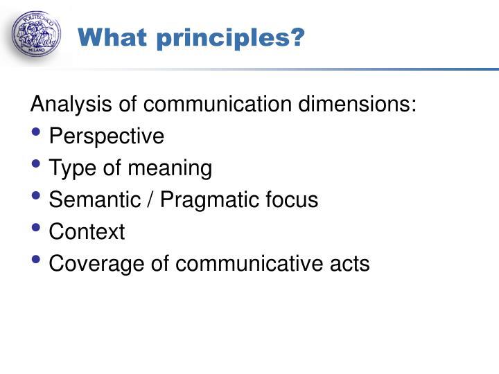What principles?