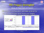 ms project strengths4