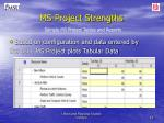 ms project strengths5