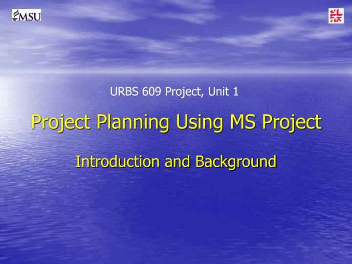 project planning using ms project n.