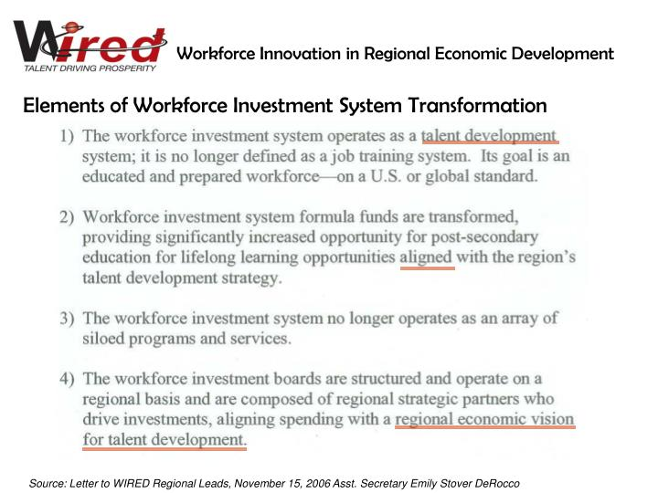 Workforce Innovation in Regional Economic Development