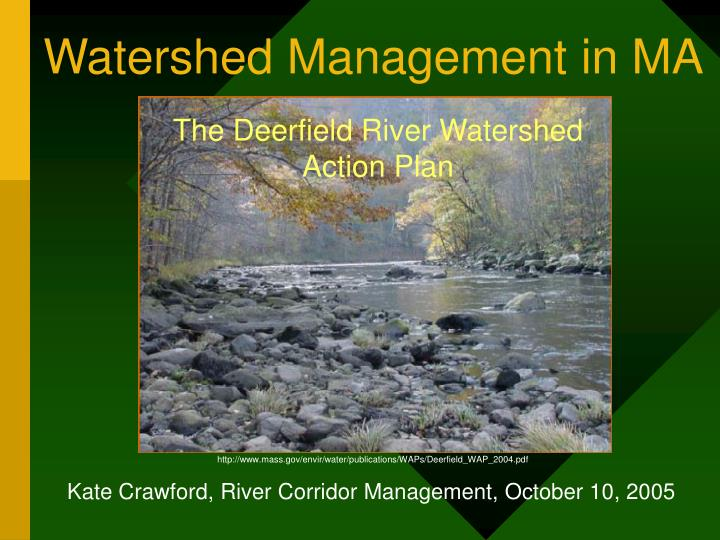 watershed management in ma n.