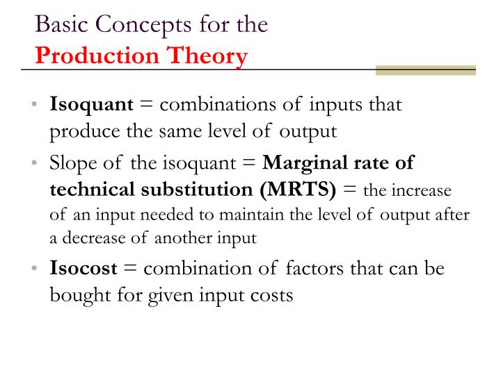 Basic Concepts for the