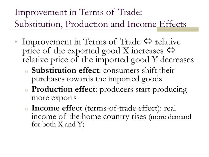 Improvement in Terms of Trade:
