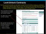 lock unlock contracts