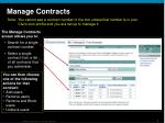 manage contracts