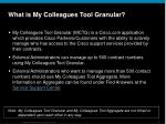 what is my colleagues tool granular