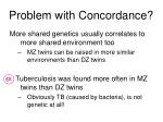 problem with concordance
