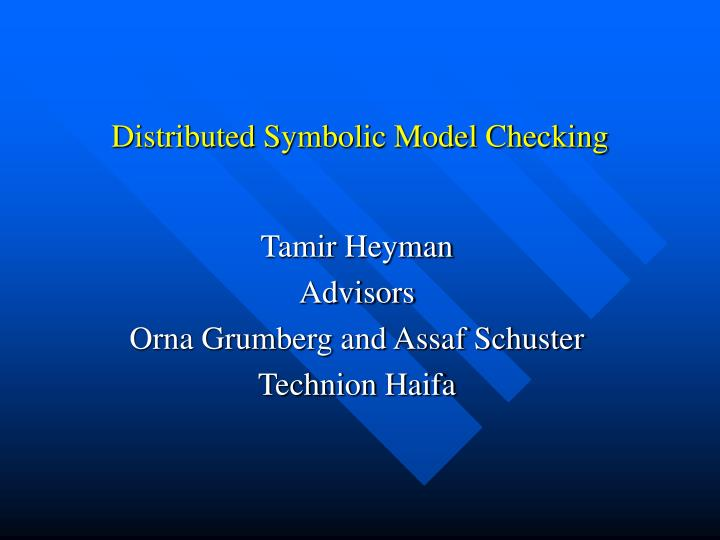 distributed symbolic model checking n.