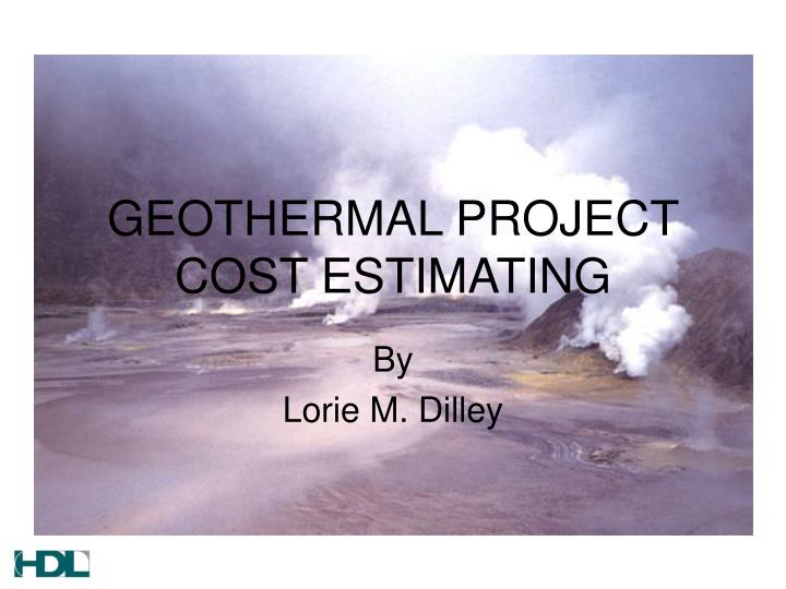 geothermal project cost estimating n.
