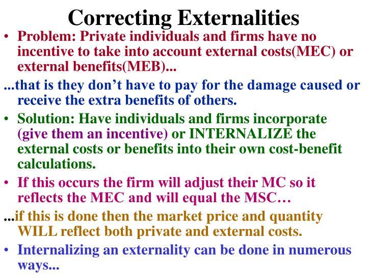 Correcting Externalities