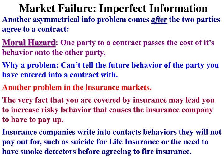 Market Failure: Imperfect Information