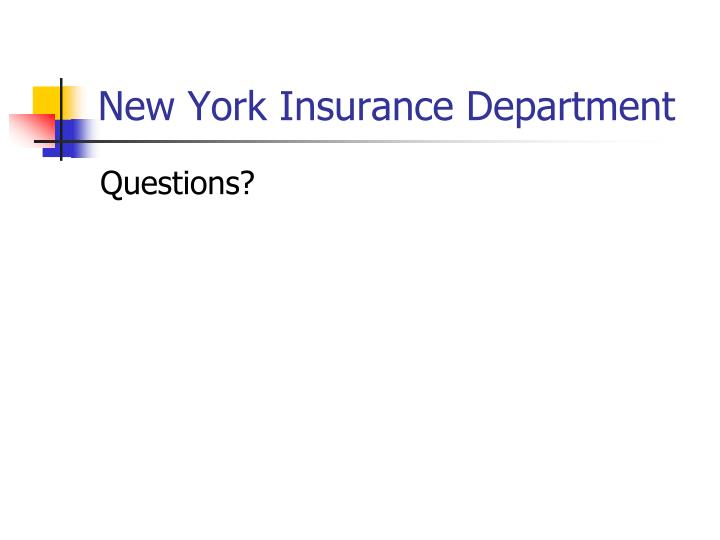 New York Insurance Department