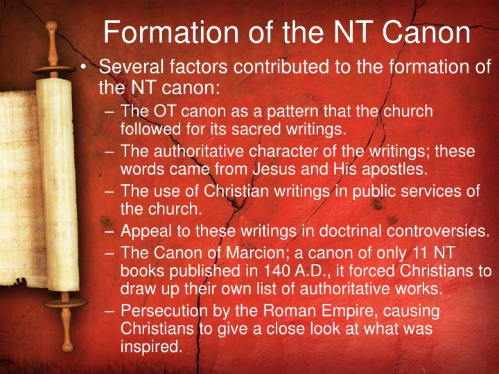 Formation of the NT Canon